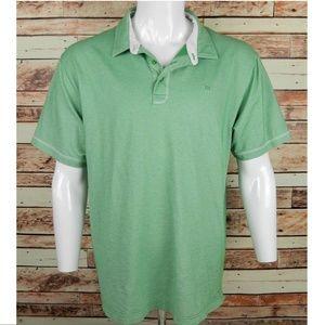 Travis Mathew Mens Polo Shirt Size XXL 2XL Green